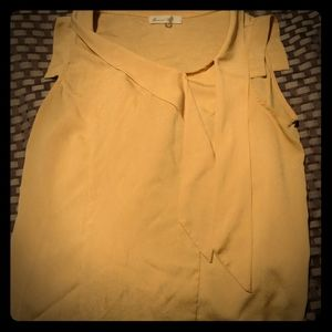 Mustard yellow work blouse